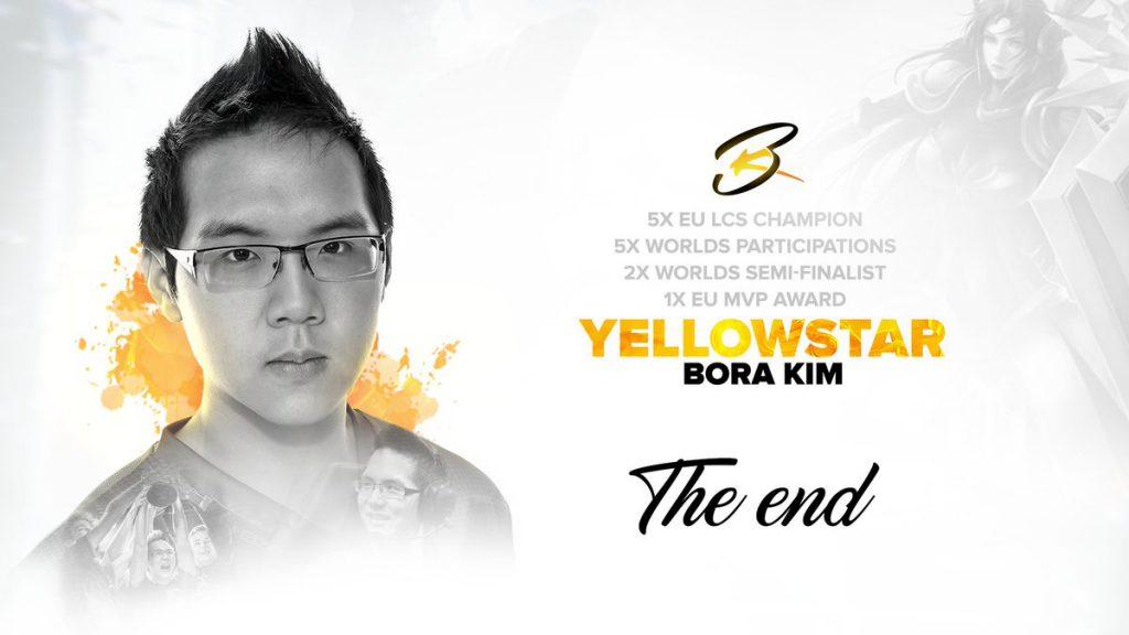 Yellowstar había sido support del equipo hasta su retirada y su entrada en el PSG como encargado de eSports