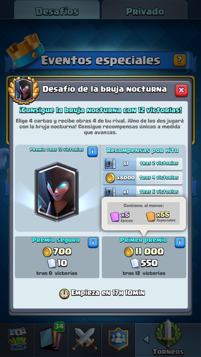 Bruja Nocturna Clash Royale