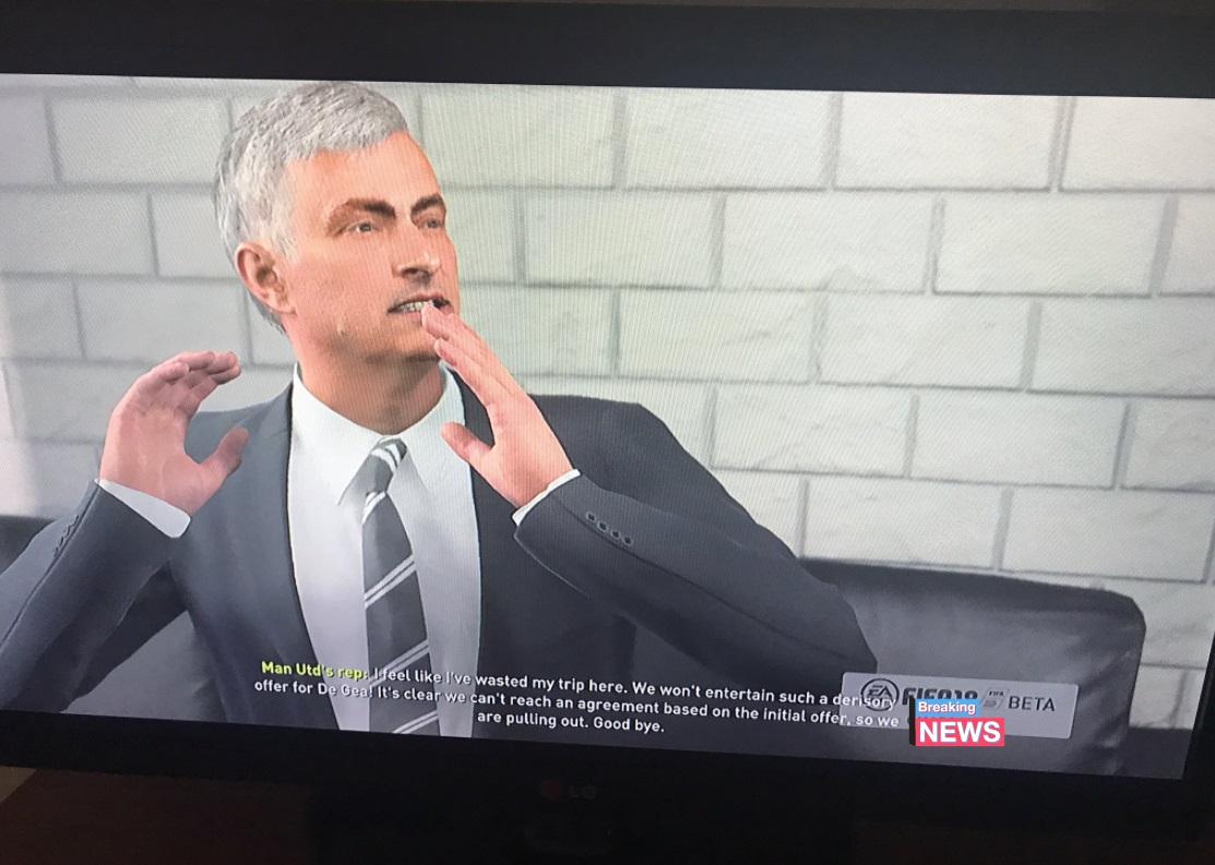 Mourinho fifa 18