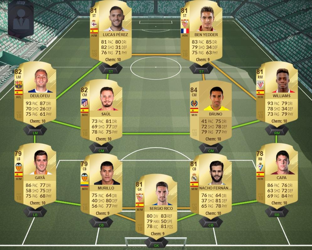 Ultimate Team FIFA 18 La Liga