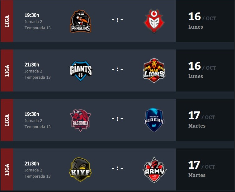 Jornada 2 Superliga Orange LoL