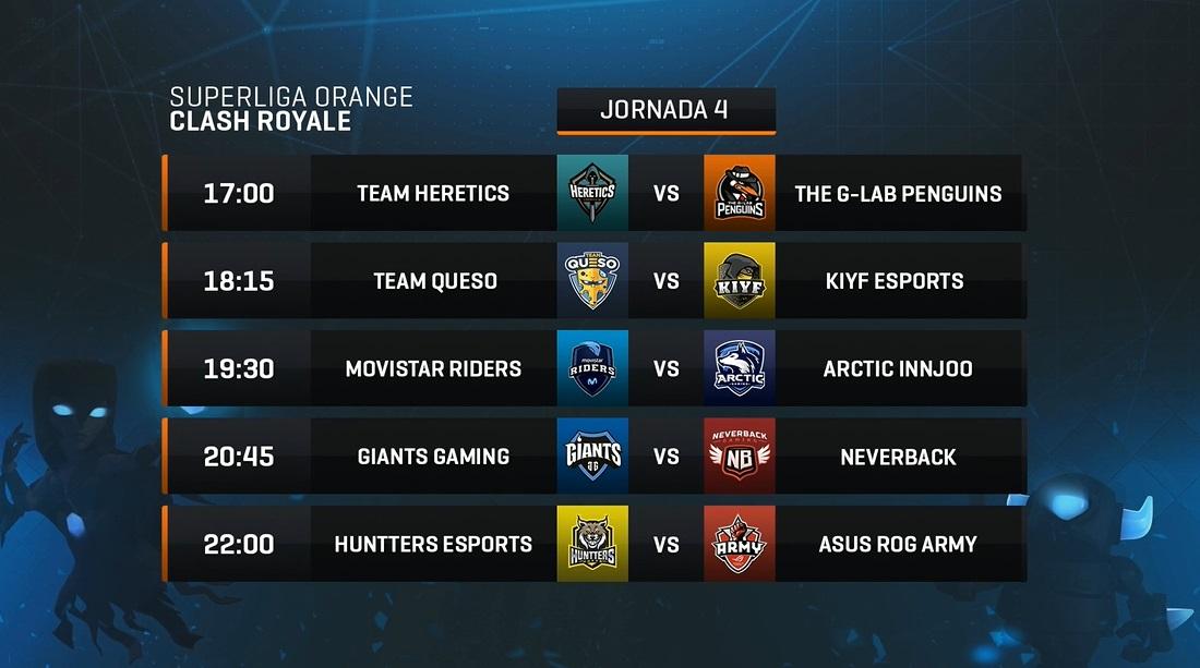 Jornada 4 SLO Orange Clash Royale