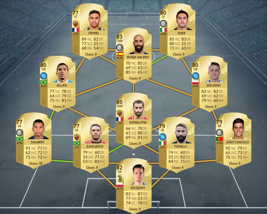 Ultimate Team FIFA 18 Calcio A