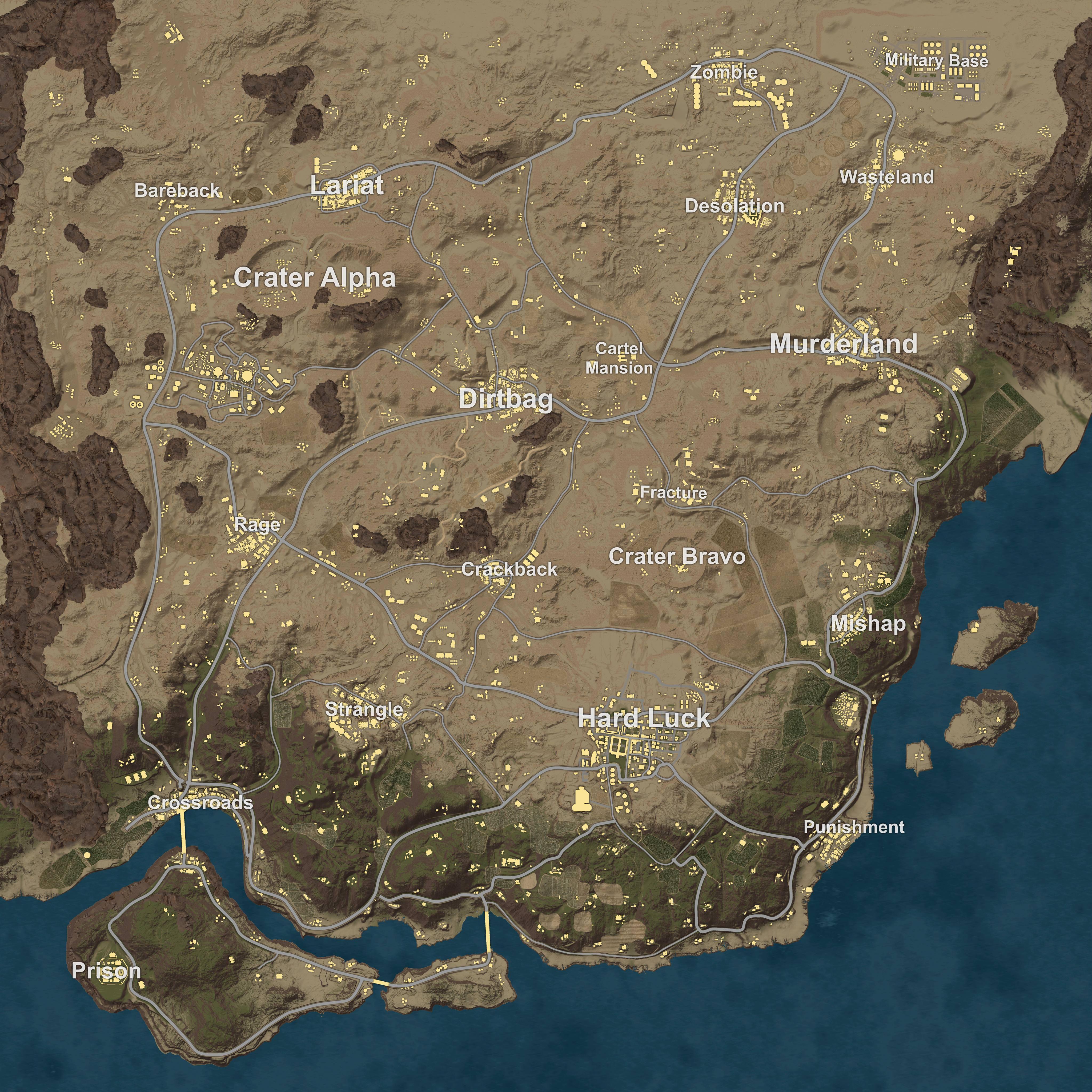 PUBG mapa desierto