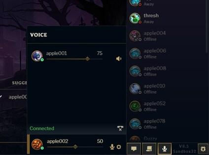 chat de voz LoL premade