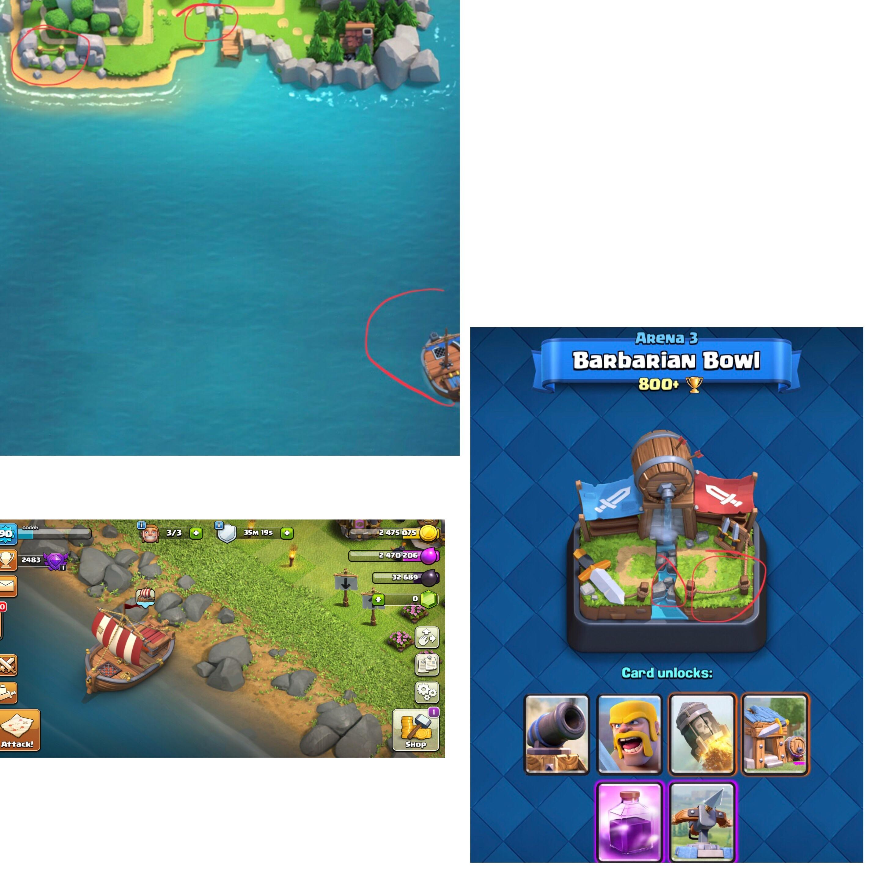 barco Clash Royale Clash of Clans