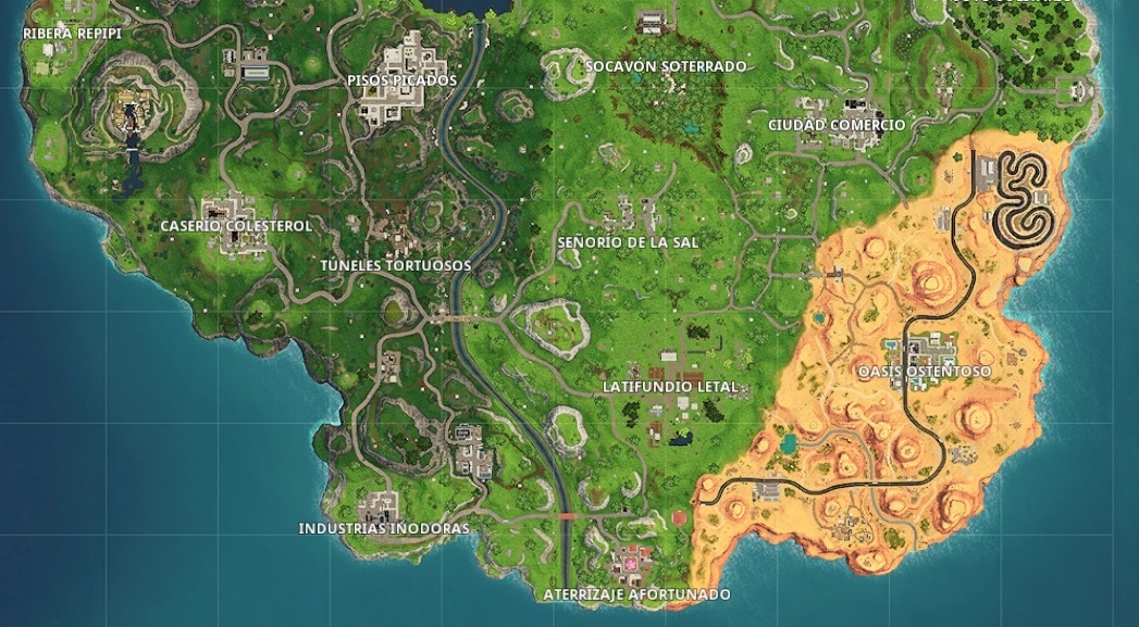 Mapa Fortnite Temporada 5 Español.El Nuevo Mapa De Fortnite Oasis Ostentoso Y Sociedad
