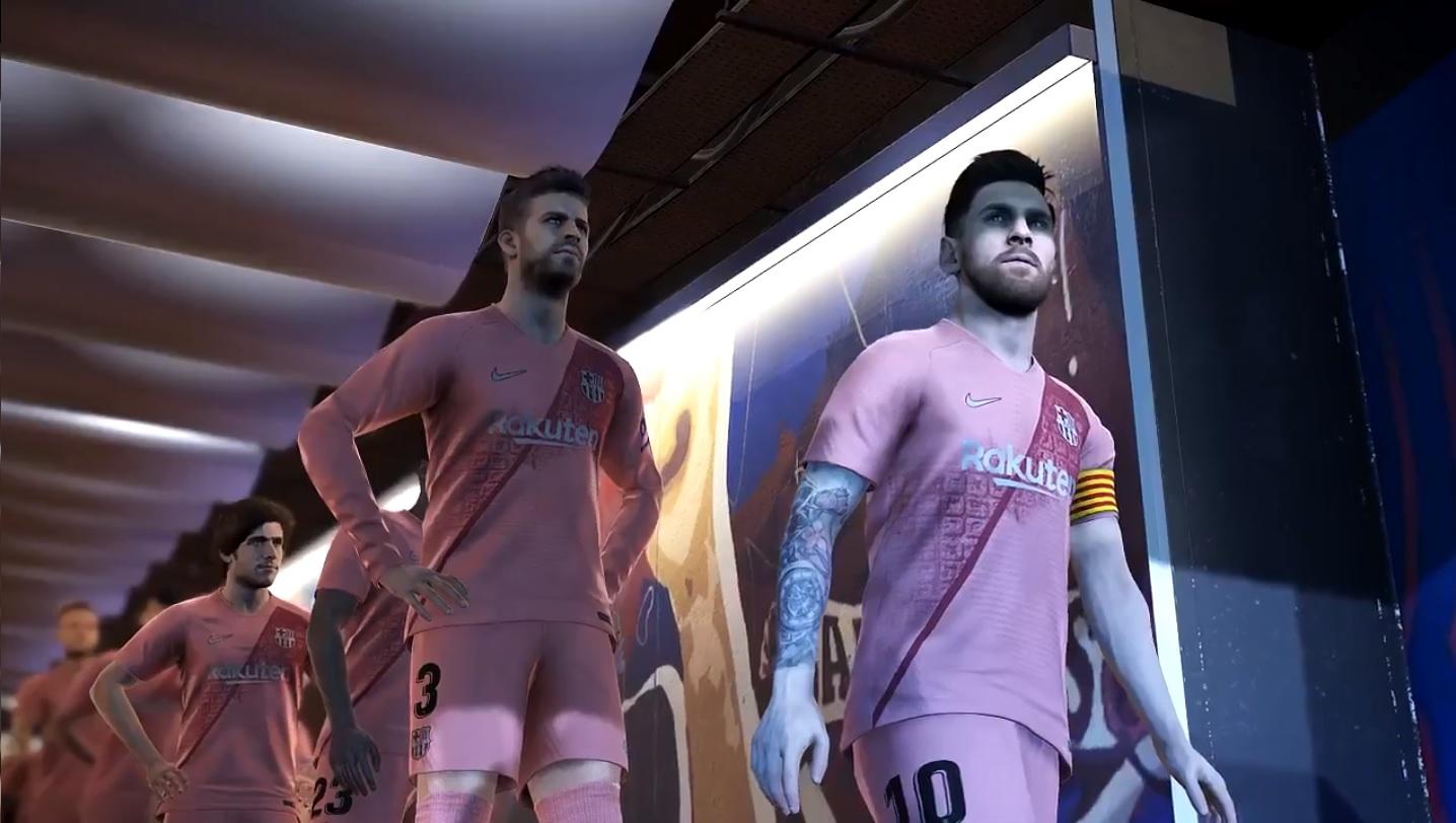 a143c79a91baf El FC Barcelona presenta su tercera equipación a través de PES 2019