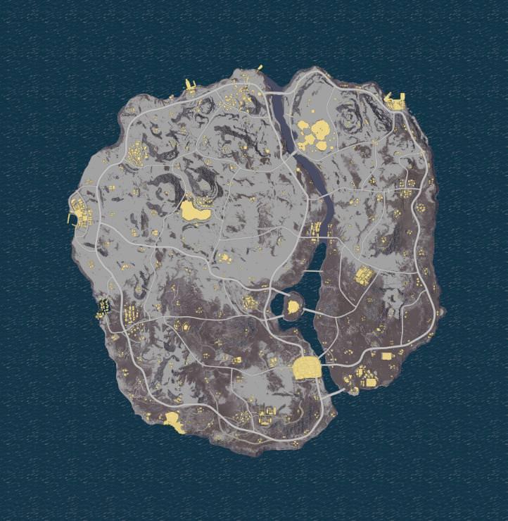 mapa nevado pubg