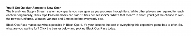 supply stream black ops 4