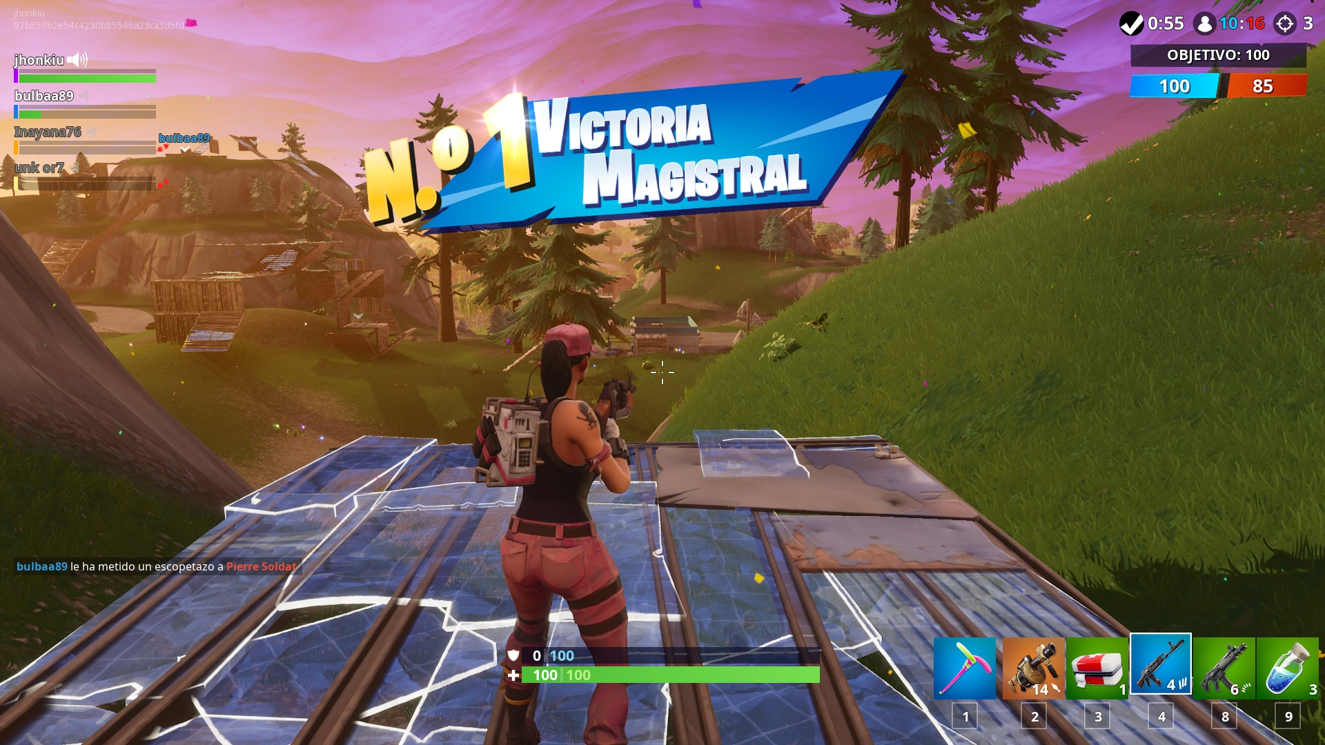 Refriega de equipos Fortnite MTL