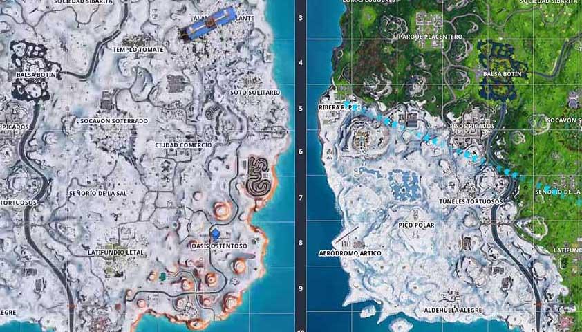 Fortnite Temporada 7 Mapa.El Mapa De Fortnite Recupera La Normalidad Tras La Navidad