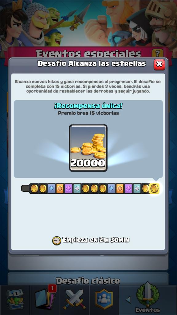 Desafio alcanza las estrellas recompensas