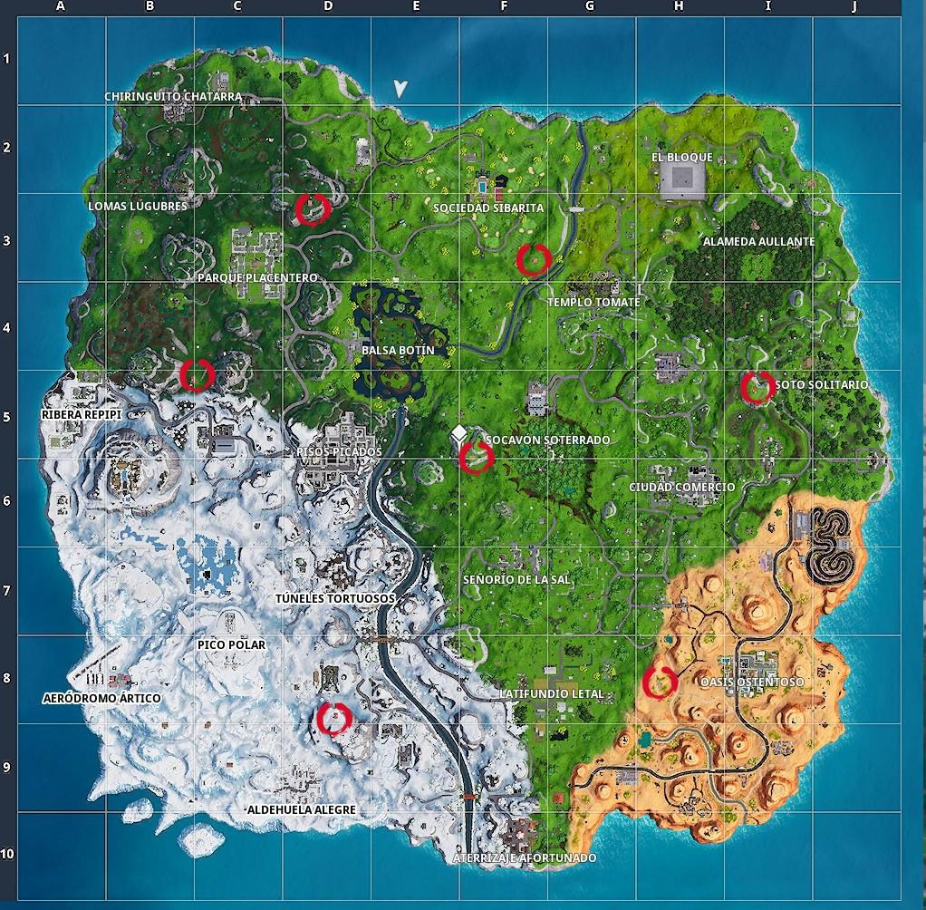 mapa expedición avanzada