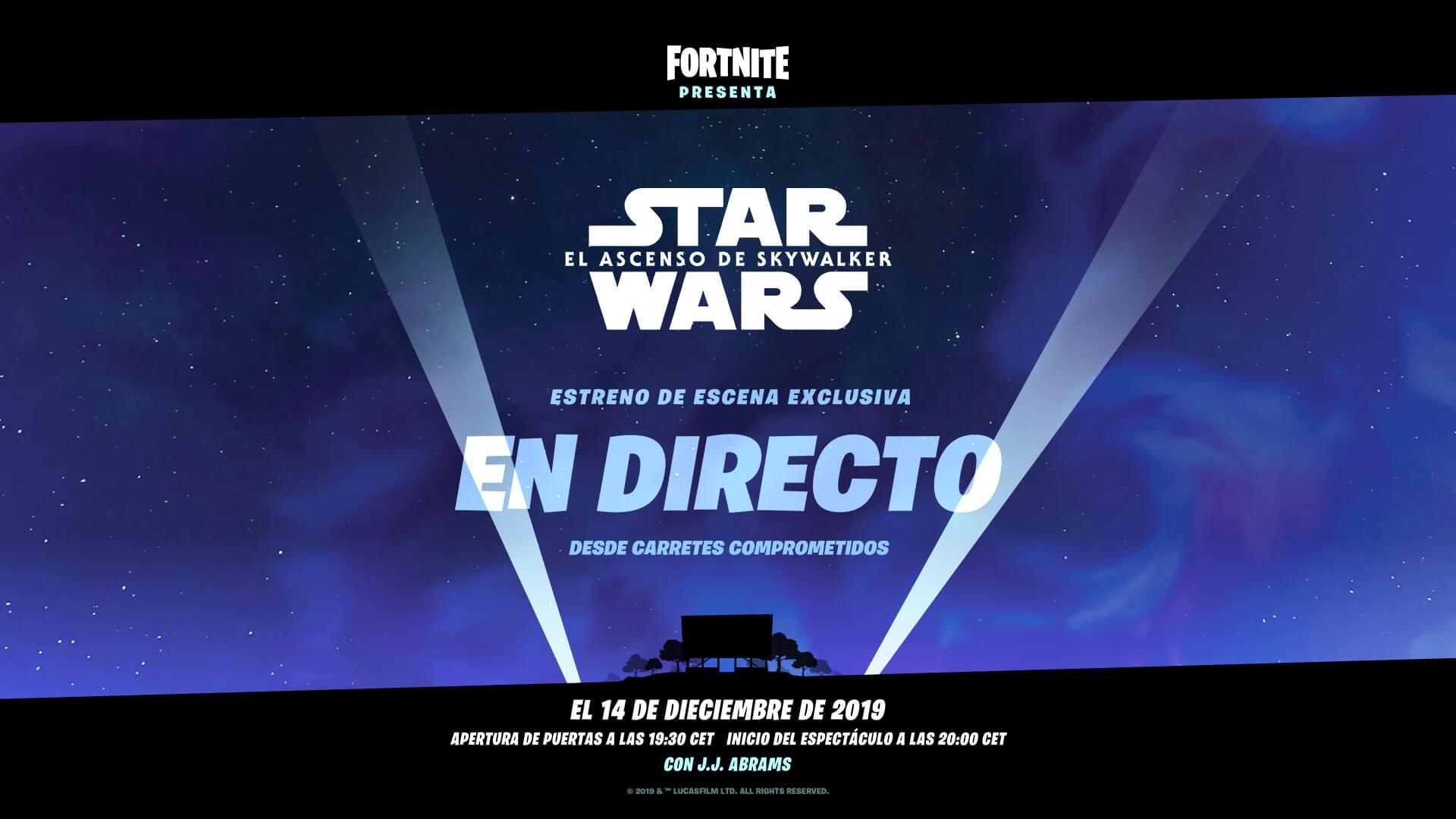 Star Wars Se Alía Con Fortnite Para Un Trailer Exclusivo De La Pelicula