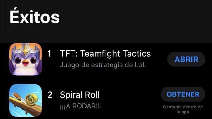 TFT móvil, en lo más alto de la store en iOS y Android