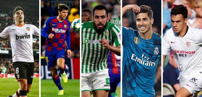 Soler, Sergi Roberto, Borja Iglesias, Asensio y Reguilón