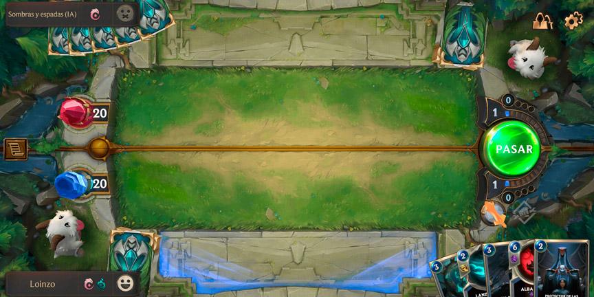 La versión móvil de Legends of Runeterra.