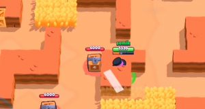 El wall glitch de Mortis en Brawl Stars.