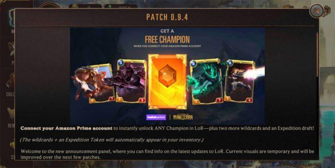 Campeón gratis Legends of Runeterra