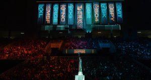 El escenario de lafinal de LEC en Atenas