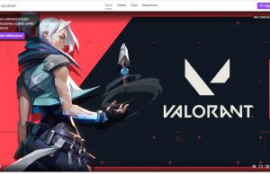 El canal de Valorant en Twitch