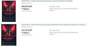 La venta ilegal de cuentas de Valorant con su beta