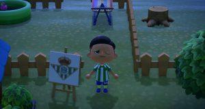 La equipación del Betis en Animal Crossing.