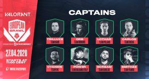 Lista de los capitantes del torneo de Valorant de G2.