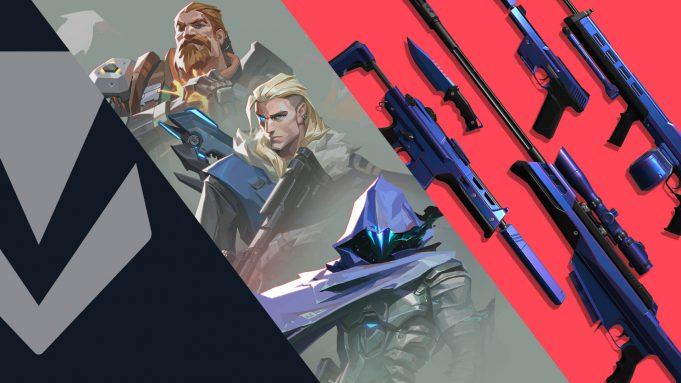 Agentes y armas de Valorant.