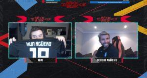 Ibai y Agüero, en el torneo de FIFA 20