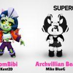 Las skins fan made de Bea y Bibi en Brawl Stars