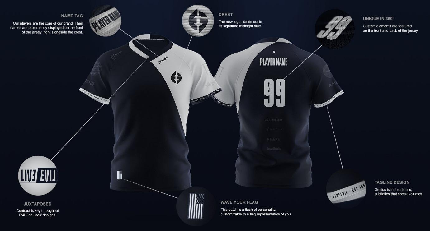 La nueva camiseta de Evil Geniuses
