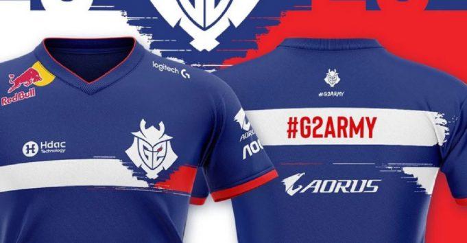 La camiseta homenaje a Francia de G2 Esports