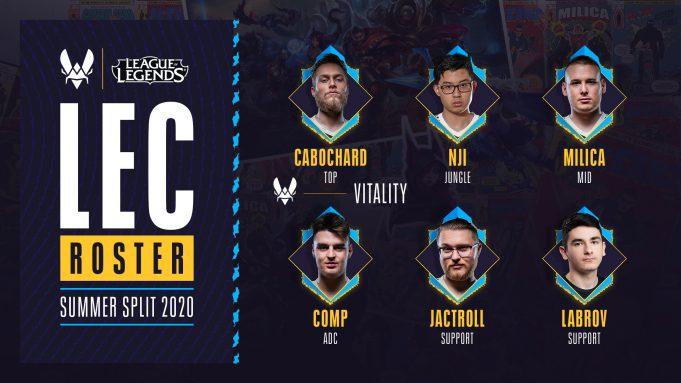 LEC Roster Vitality 2020