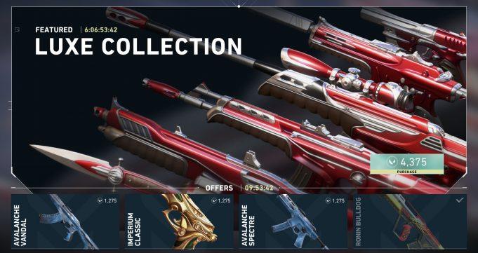 Las skins de armas en Valorant