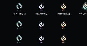 La recreación fan de los iconos de las rankeds de Valorant
