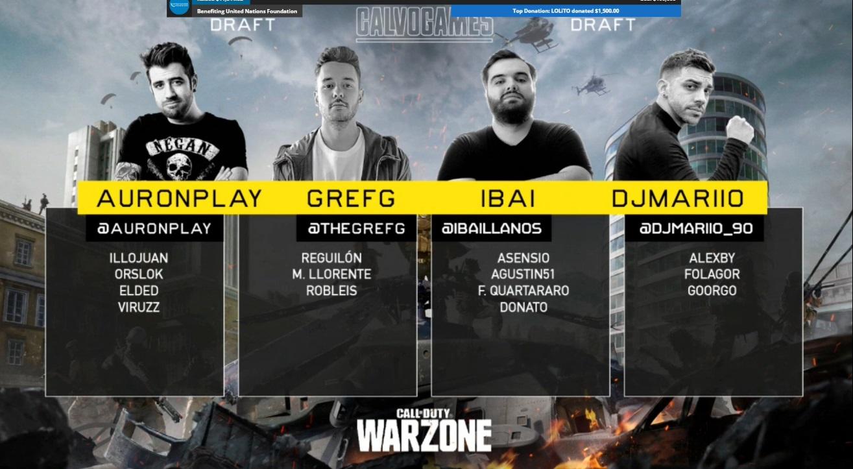 El draft de Warzone en los CalvoGames
