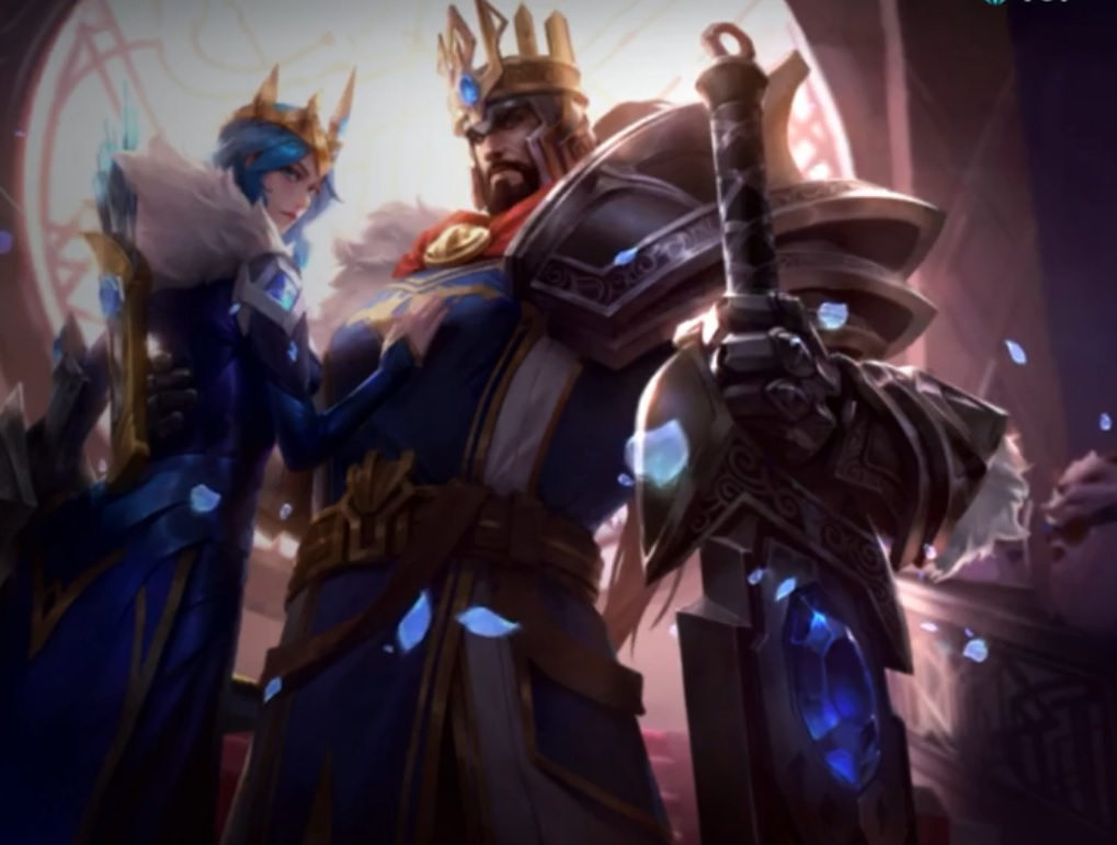 Ashe y Tryndamere, skin reyes