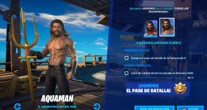 Skin de Aquaman en Fortnite