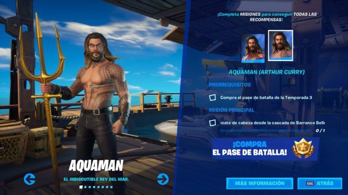 Skin de Aquaman en Fortnite