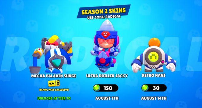 Las skins de julio 2020 en Brawl Stars