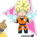 Las skins de Naruto y Goku de Brawl Stars