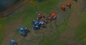 Lado Azul League of Legends minions