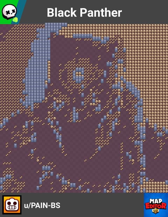El mapa de Brawl Stars a Black Panther