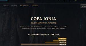 Clsh LoL Copa Jonia Agosto
