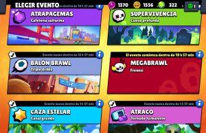 Modos de juego eventos Brawl Stars