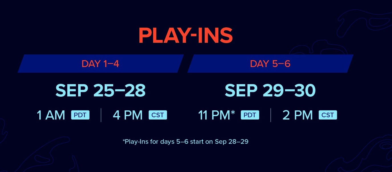 Los horarios de los Worlds 2020 en el Play-In