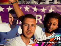 Selfie FIFA 21 celebración