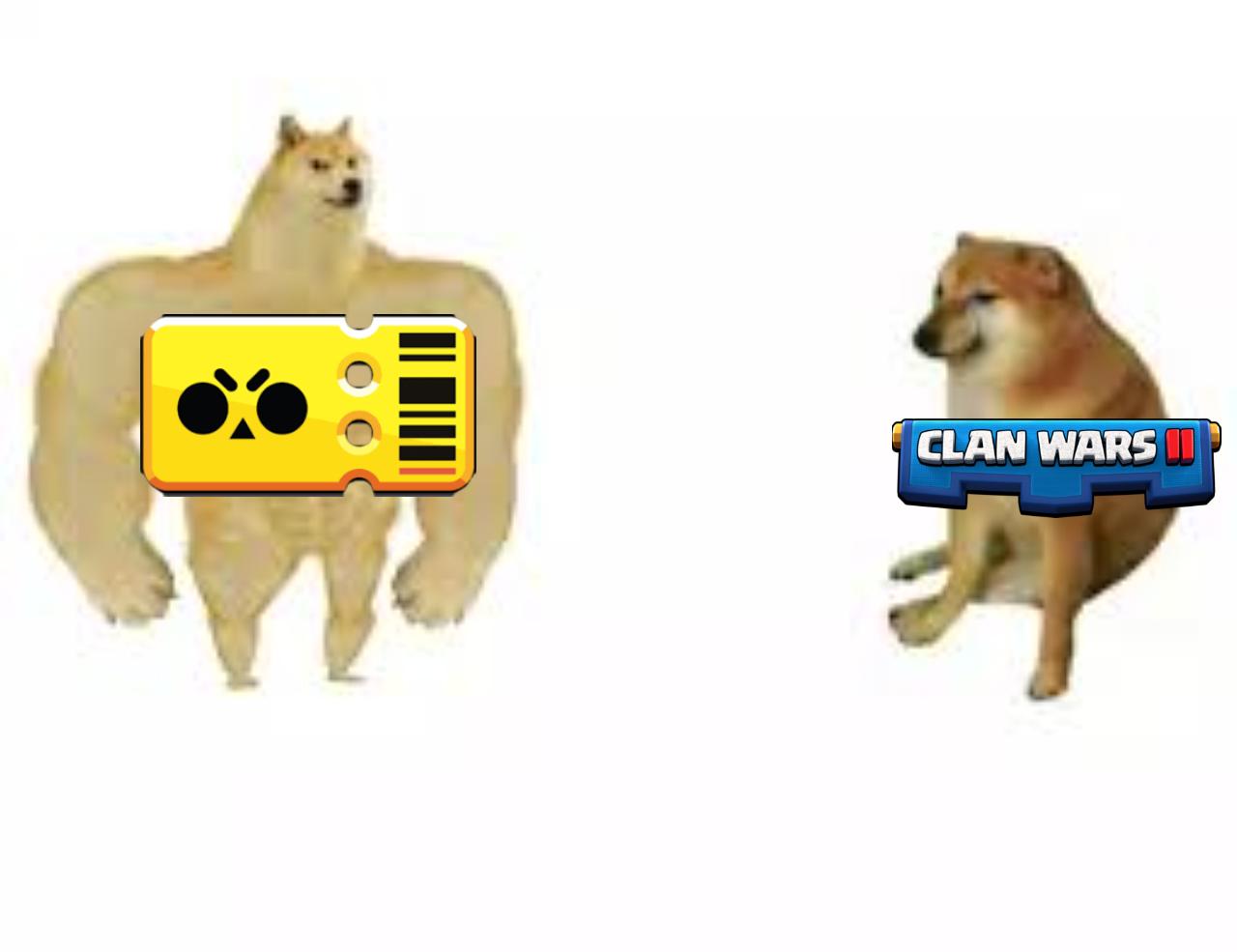 El meme de Brawl Stars vs Clash Royale